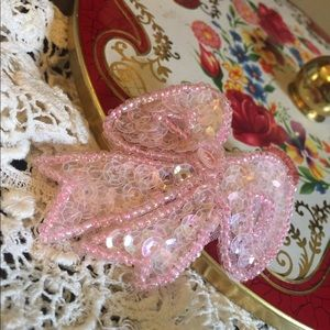 1940's Hand-beaded Sequined Infant Dress Clip